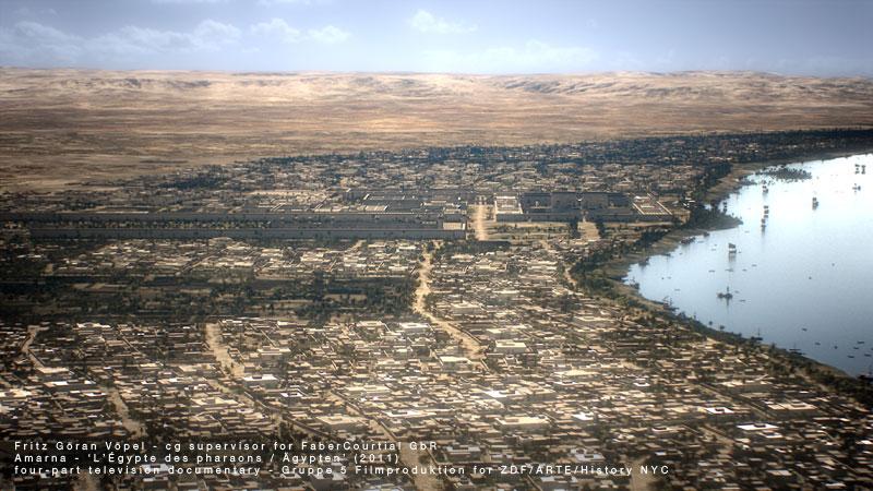 Digitale Rekonstruktion von Amarna / image by FaberCourtial, 2010