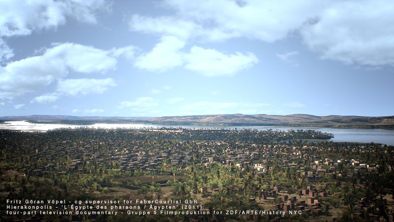 Digitale Rekonstruktion von Hierakonpolis / image by FaberCourtial, 2010