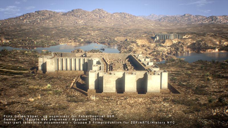Digitale Rekonstruktion von Semna / image by FaberCourtial, 2010