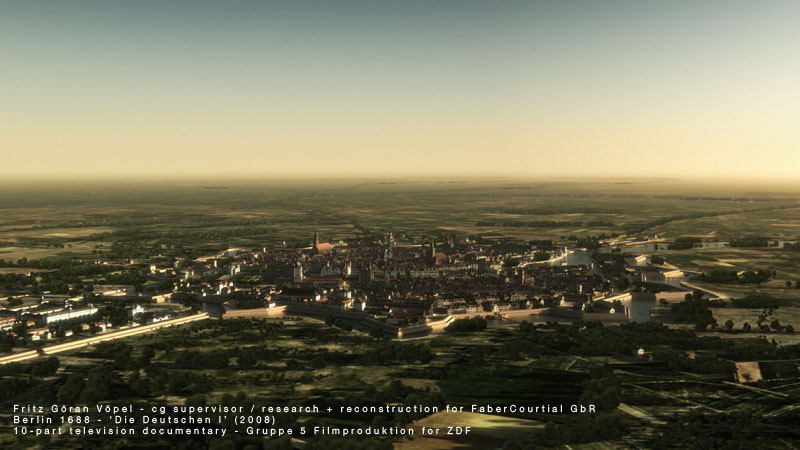 3d Rekonstruktion von Berlin 1688