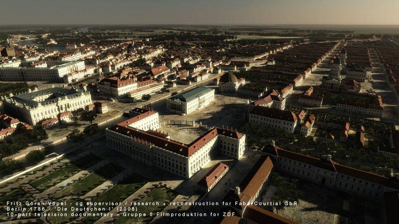 3d Rekonstruktion von Berlin 1786
