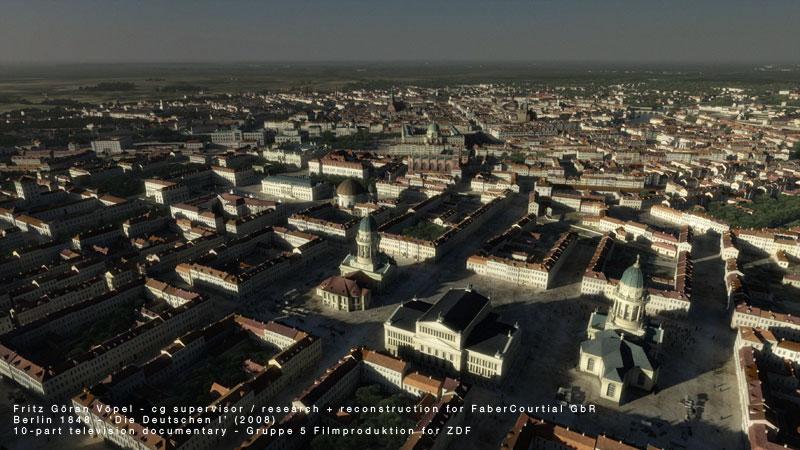 3d Rekonstruktion von Berlin 1848 / image by FaberCourtial, 2008