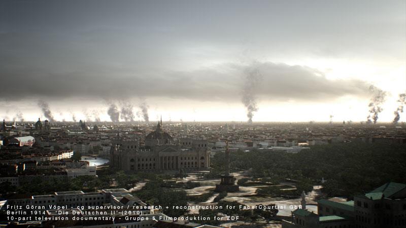 3d Rekonstruktion von Berlin 1914 / image by FaberCourtial, 2010