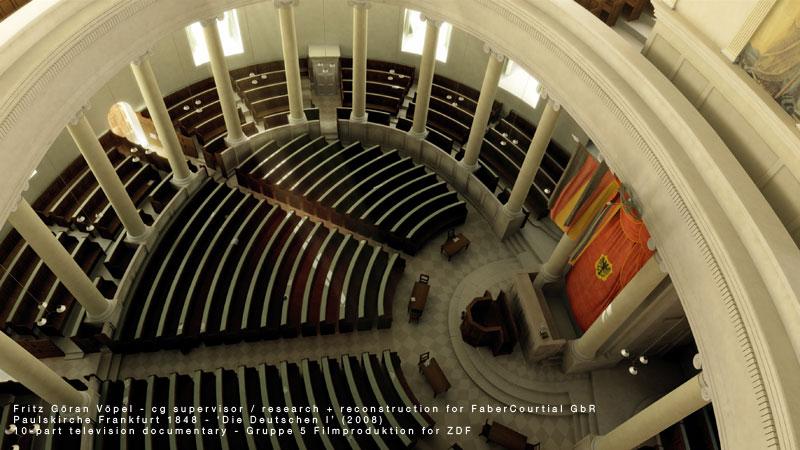 3d Rekonstruktion von Die Paulskirche in Frankfurt
