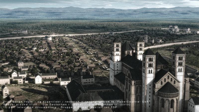 3d Rekonstruktion von Speyer um 1100