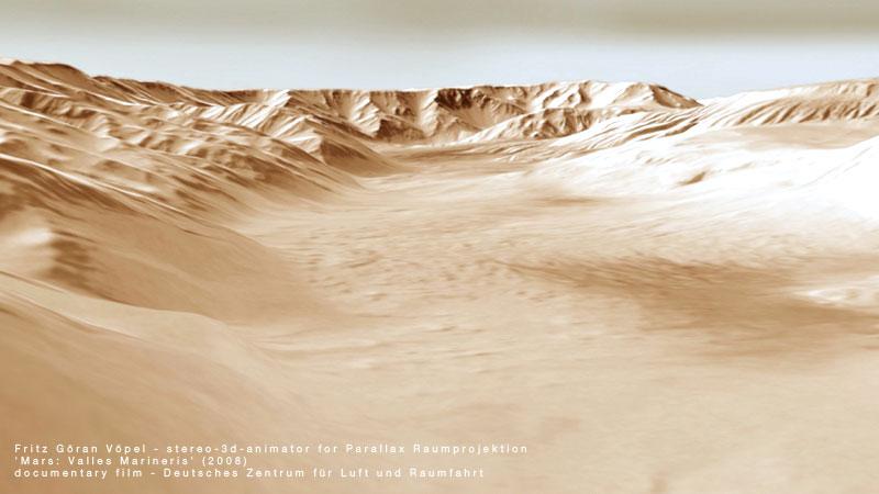 Deutsches Zentrum für Luft und Raumfahrt (DLR) - Valles Marineris / image by fritzvoepel - parallax raumprojektion, 2008