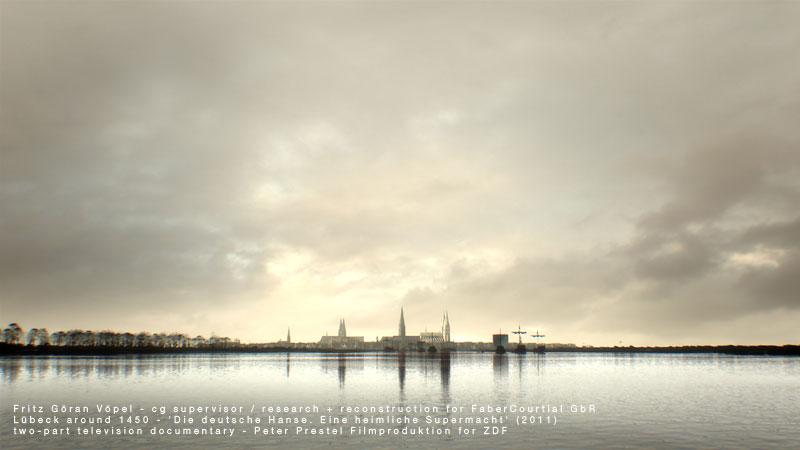3d Rekonstruktion von Lübeck um 1450 / image by FaberCourtial, 2010