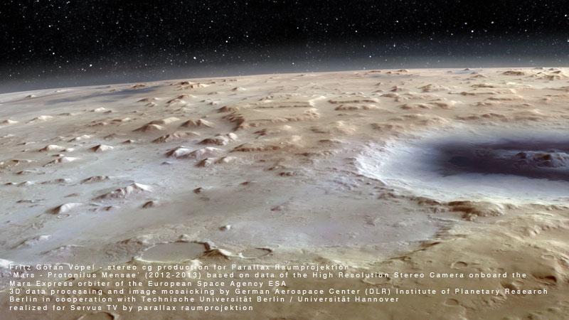DLR / Servus TV - Protonilus Mensae / image by fritz göran vöpel - parallax raumprojektion, 2012 - © Servus TV