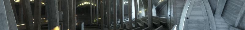 Die ungebaute Sternkirche von Otto Bartning aus dem Jahr 1922 - 3D Rekonstruktion