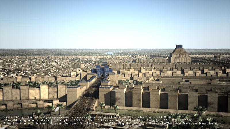 Archäologische 3d Rekonstruktion von Babylon / image by FaberCourtial, 2009 / © Reiss-Engelhorn Museen Mannheim