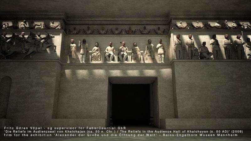 Digitale Rekonstruktion der Reliefs von Khalchajan / image by FaberCourtial, 2009 / © Reiss-Engelhorn Museen Mannheim
