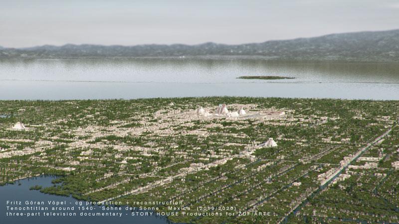 Archäologische Rekonstruktion von Tenochtitlan / image by Fritz Göran Vöpel, 2020